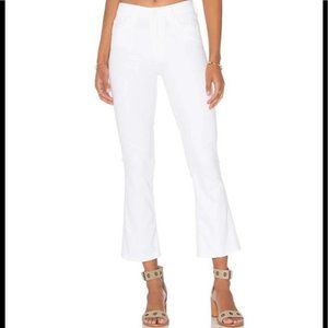MOTHER The Insider Crop Flare High Rise Jeans